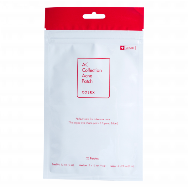 AC Collection Acne Patch 26ea (POUCH) (15x23mm Large 8ea, 11x16mm Medium 9ea, 9x13mm Small 9ea)