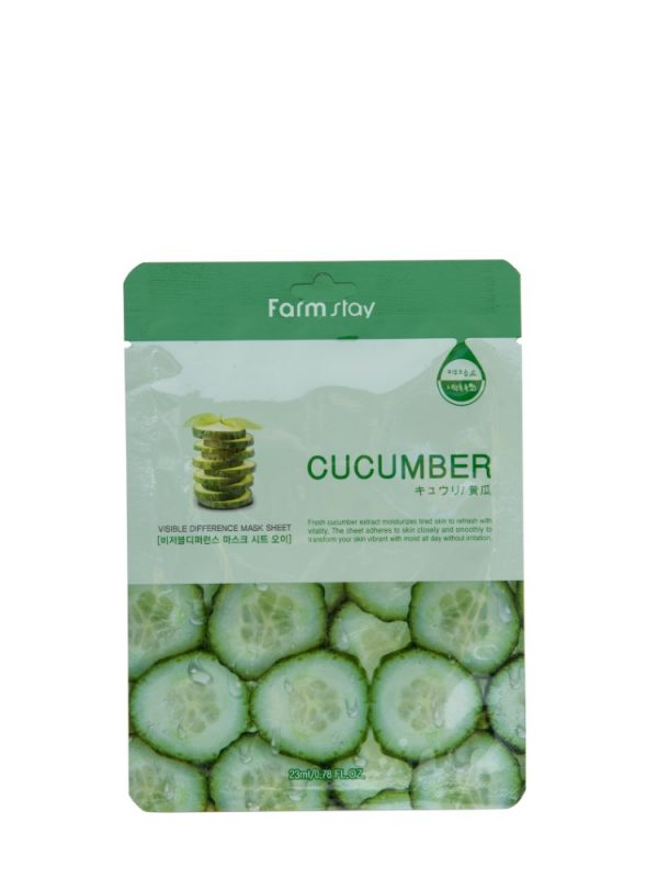 FARM STAY CUCUMBER VISIBLE DIFFERENCE MASK SHEET