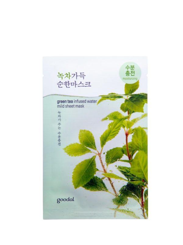 Goodal greentea infused water mild sheet mask