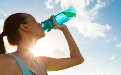 healthy and hydrated in summer