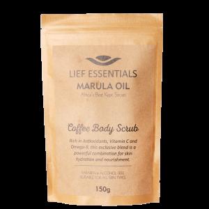 LIEF ESSENTIALS MARULA OIL COFFEE BODY SCRUB_1