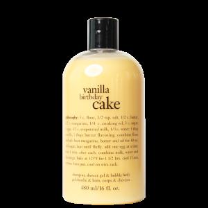 PHILOSOPHY VANILLA BIRTHDAY CAKE SHAMPOO, SHOWER GEL _ BUBBLE BATH_1